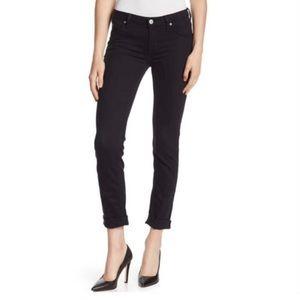 Hudson Black Bacara Straight Cuffed Crop Jeans NWT
